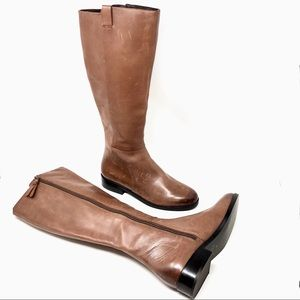 Cole Haan Katrina Riding Boot Harvest Tall Leather